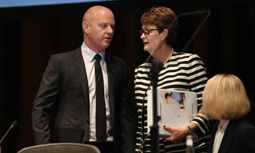 Commonwealth Bank CEO Ian Narev with chair Catherine Livingstone