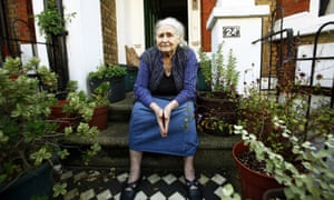 Doris Lessing at her home in London.