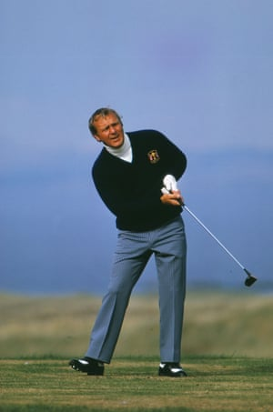 1973. The USA's Arnold Palmer on his way to helping defeat Great Britain and Ireland 19-13 to retain the Ryder Cup.