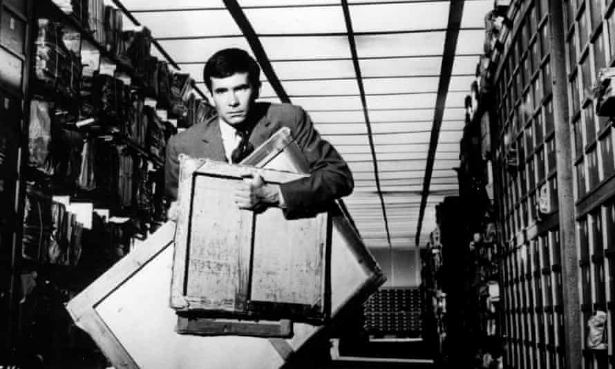 A Kafkaesque corridor ... Anthony Perkins as Josef K in Orson Welles's film version of The Trial.