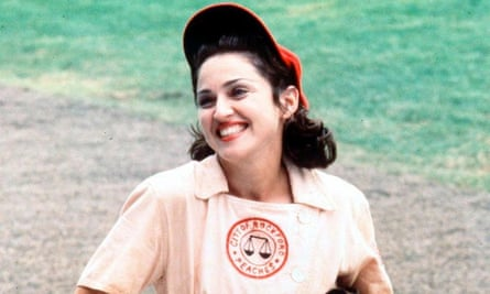 Madonna as 'All the Way' Mae Mordabito in A League of Their Own.