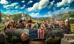 Far Cry 5 was criticised for failing to fully explore its politically charged setting, with an armed militia taking over small towns in rural Montana