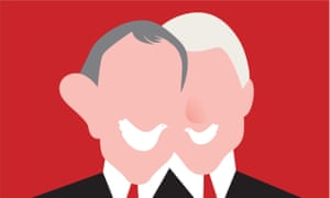 Noma Bar's illustration of Tony Blair and Bill Clinton