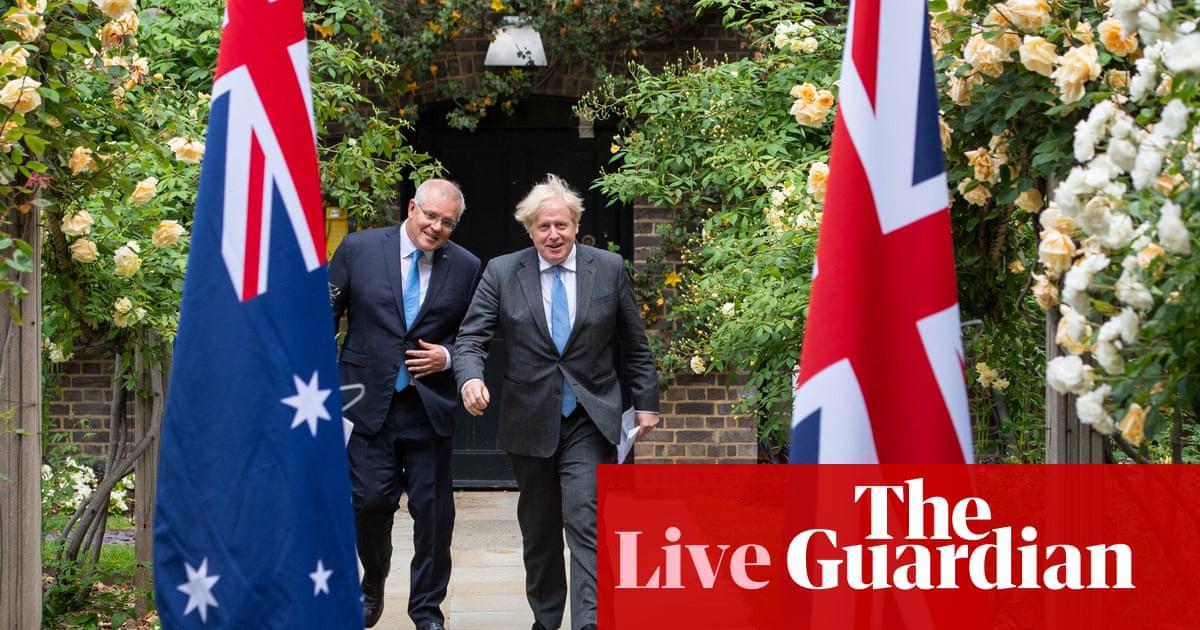 Australia politics live: Morrison hails UK free trade agreement; Victoria records five new local Covid cases