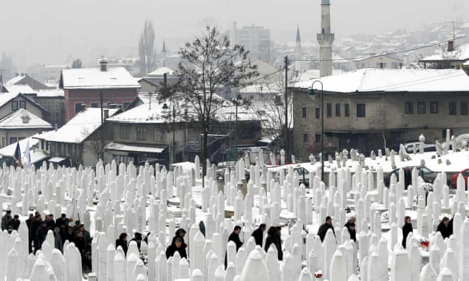 The graves of soldiers, in Sarajevo, who died during the Bosnian war. The conflict in the early 1990s was in large part fuelled by the inability to forget.