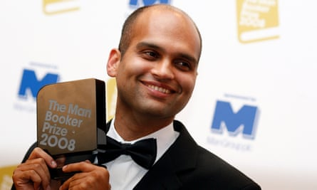 Adiga in London after winning the Booker in 2008.