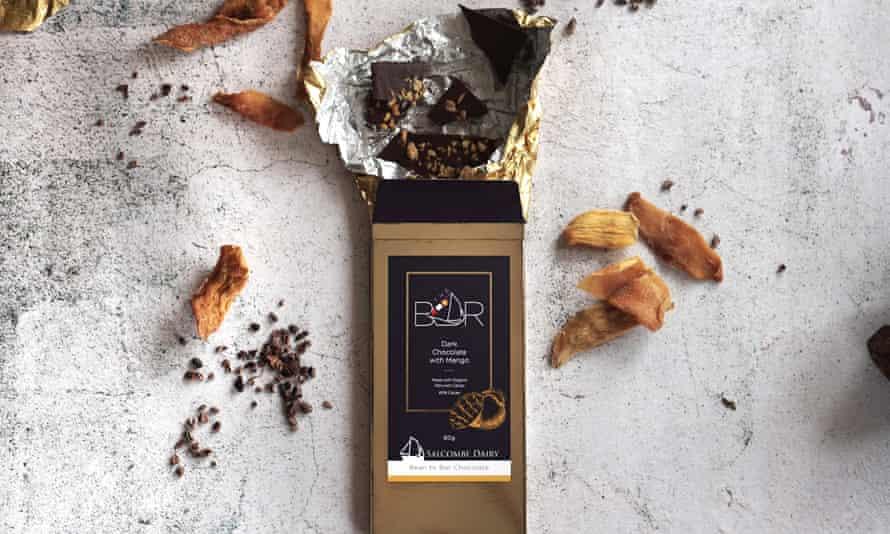 Explore your dark side… Salcombe Dairy dark chocolate with mango.