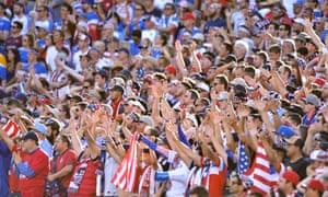 USA fans cheer on their team at the Copa América Centenario in 2016.