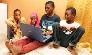 Felicia Perkins Ferreira's children. From left: Siddiq bin Vincent, Baiyyeenah Abdul Malik, Mahmud Ferreira and Ayyub Ferreira.