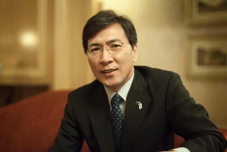 Ahn Hee Jung, the governor of South Chungcheong Province, South Korea during his visit to Australia.