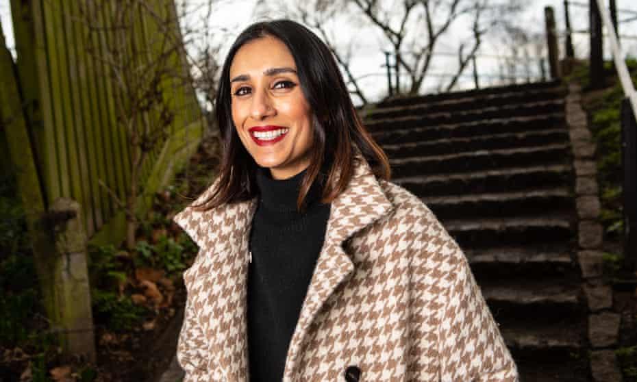 Anita Rani photographed in east London.