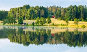 Sweden rural dalsland reflection