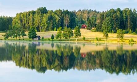 Sweden rural dalsland reflection