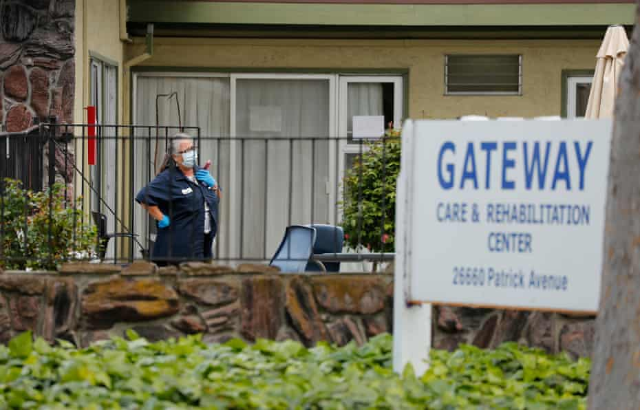Gateway Care and Rehabilitation Center in Hayward, California, is one of more than 250 skilled nursing homes in the state suffering from coronavirus outbreaks.