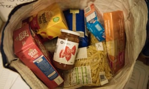 A parcel from a food bank