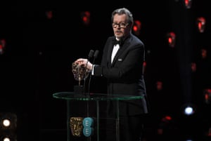 Gary Oldman accepts the best actor award for Darkest Hour