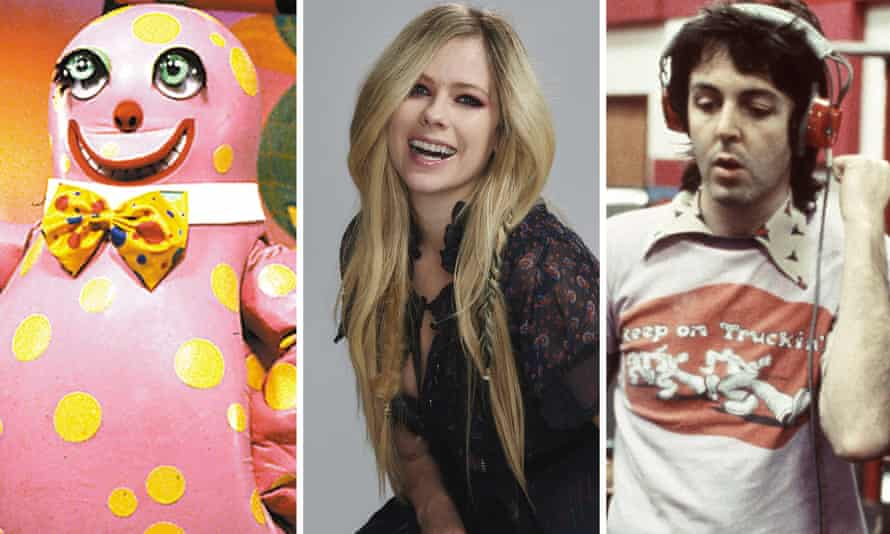 'Like a lot of first crushes, I fell hard' ... (L-R) Mr Blobby, Avril Lavigne and Paul McCartney.