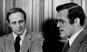 Cheney with Donald Rumsfeld in 1975.