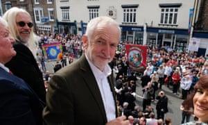 Jeremy Corbyn at Durham Miners' Gala on Saturday.