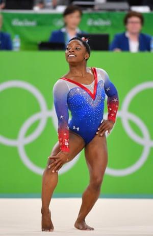 Simone Bile at the Rio Olympics