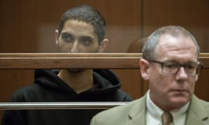 Tyler Barriss, left, appears for an extradition hearing.