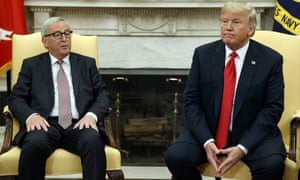 Donald Trump and Jean-Claude Juncker in the Oval Office of the White House Wednesday.