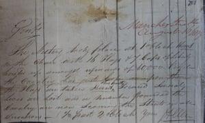 Haigh Allen's account of the Peterloo massacre.