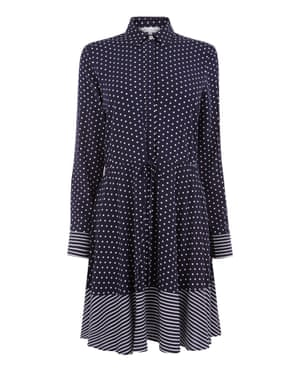 Polka-dot shirt dress, £39, warehouse.co.uk