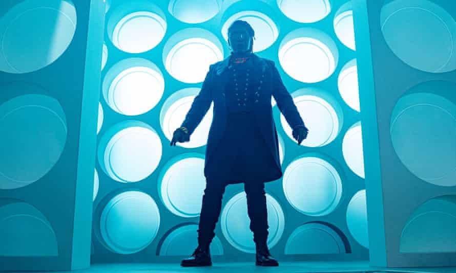 Jo Martin's Doctor Who in her Tardis