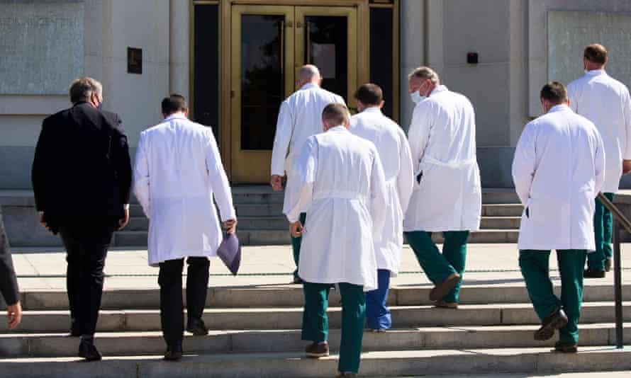 Donald Trump's doctors at Walter Reed Medical Centre