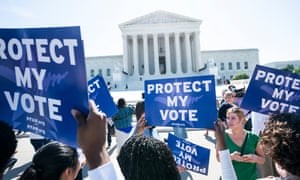 'The five conservative justices insist that the court would risk its integrity and independence if it began determining the constitutionality of legislative maps. But it's the other way around: by allowing the corrosive practice of gerrymandering to stand, the court has exposed its own partisan intent.'