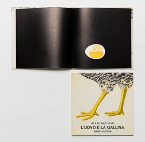 The children's book L'Uovo e la Gallina (The Chicken and the Egg), 1970, was, Enzo Mari said, a way of drawing attention to shapes.