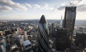 London's Financial District Views.
