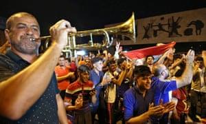 巴格达庆祝摩苏尔解放。