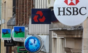 High street banks HSBC, Lloyds, Barclays and NatWest