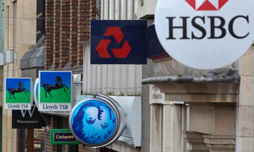 Banks on a UK high street