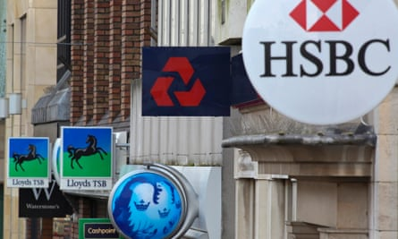 Signs of high street banks