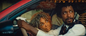 Tessa Thompson and Lakeith Stanfield in Boots Riley's Sorry to Bother You