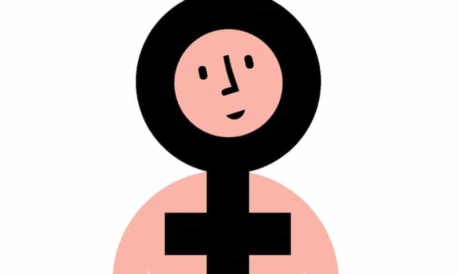 Illustration of a female, light skin tone