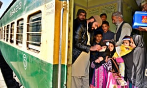 Polio vaccination at Quetta railway station