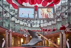 Inoculation against cliche … Phillipson's installation Eat Here.