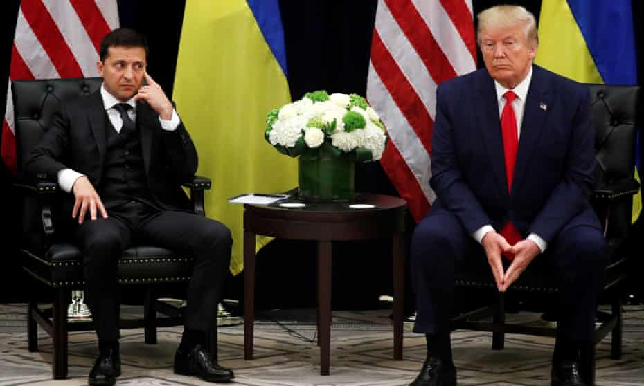 Volodymyr Zelenskiy and Donald Trump at the United Nations building, 25 September 2019.