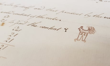 Eighteenth-century doodles of a chicken in trousers go viral