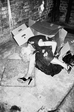 Diana, a squatter in King's Cross in London in 1980 photographed by Mark Cawson