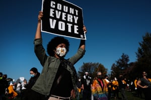 Philadelphia, USPeople participate in a protest in support of counting all votes as the election in Pennsylvania is still unresolved