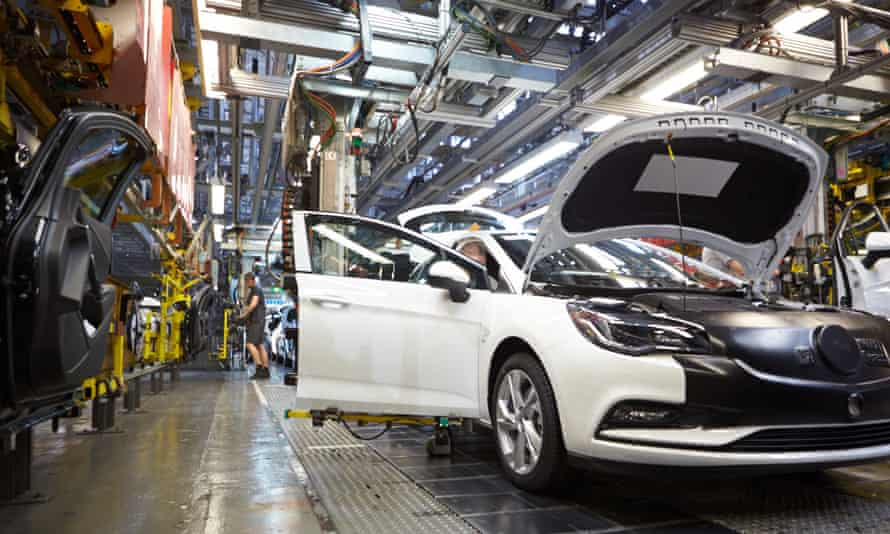 The Astra production line at Vauxhall's Ellesmere Port plant.