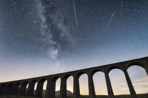 Meteors over the Ribblehead viaduct