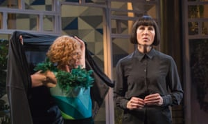 Tamsin Greig as Malvolia (right), with Doon Mackichan as the fool Feste