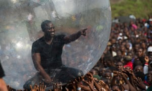 Akon performs at the Peace One Day celebrations in the Democratic Republic of the Congo last year.