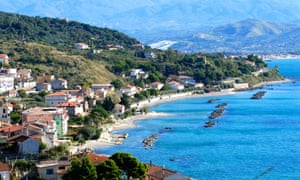 The seaside village of Pioppi, home to Delia Morinelli's restaurant.